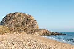 Mugu Rock on PCH in Malibu, California Stock Photo