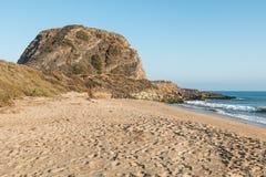 Mugu Rock at Point Mugu State Park on PCH in California Stock Photo
