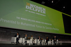 MUHAMMA YUNUS _WOMEN DELIVER CONFERENCE 2016 Stock Photography