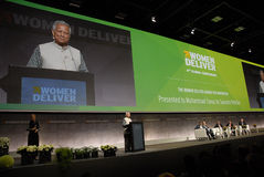 MUHAMMA YUNUS _WOMEN DELIVER CONFERENCE 2016 Royalty Free Stock Images