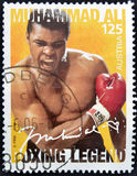 Muhammad Ali. AUSTRIA - CIRCA 2006: A stamp printed in austria shows Muhammad Ali royalty free stock photography