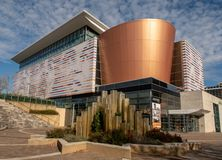 Muhammad Ali Center. In downtown Louisville, Kentucky royalty free stock images