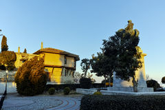 Muhammad Ali of Egypt monument and old town in Kavala, Greece Royalty Free Stock Image