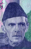 Muhammad Ali Jinnah. Portrait of Quaid-e-Azam Muhammad Ali Jinnah founder of Pakistan (1876-1948) as seen on all Currency Bills Stock Images