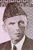 Muhammad Ali Jinnah-Porträt stockfotografie