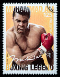 Muhammad Ali. LUXEMBOURG - CIRCA 2015: A postage stamp printed in Vienna Austria showing Muhammad Ali, circa 2006 Royalty Free Stock Image