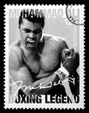 Muhammad Ali. LUXEMBOURG - CIRCA 2015: A postage stamp printed in Vienna Austria showing Muhammad Ali, circa 2006 Stock Image