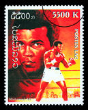 Muhammad Ali Postage Stamp imagen de archivo