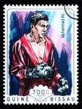 Muhammad Ali Postage Stamp fotografía de archivo libre de regalías