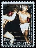 Muhammad Ali Postage Stamp foto de archivo