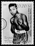 Muhammad Ali Postage Stamp imagenes de archivo