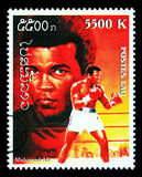 Muhammad Ali Postage Stamp Royalty Free Stock Images