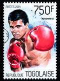Muhammad Ali Postage Stamp. NEW YORK, USA - CIRCA 2016: A postage stamp printed in Togo showing Muhammad Ali, circa 2014 Royalty Free Stock Photos