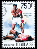 Muhammad Ali Postage Stamp. NEW YORK, USA - CIRCA 2016: A postage stamp printed in Togo showing Muhammad Ali, circa 2014 Royalty Free Stock Photography