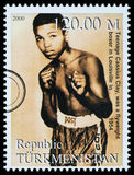 Muhammad Ali Postage Stamp Royalty Free Stock Image