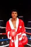 Muhammad Ali Wax-cijfer bij Mevrouw Tussauds San Francisco Royalty-vrije Stock Foto