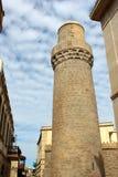 Muhammad Mosque e minarete, construídos no século XI Localizado na cidade velha de Baku, o UNESCO fotografia de stock