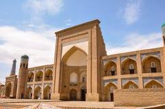 Muhammad Rahim Khan Madrasah en Ichan Kala, Khiva Imagen de archivo