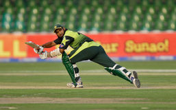 Muhammad Yousaf. Pakistani Player Muhammad Yousaf plays a shot against Bangladesh in the ODI series 2008 held in Lahore Stock Images