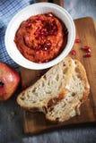 Muhammara red bell pepper dip like ajvar relish Stock Image