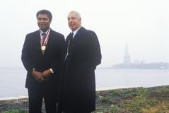 Muhammed阿里和乔DiMaggio 免版税库存照片