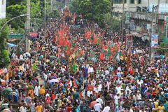 Muharam Observed Bangladesh. Member of Shia Community takes out a huge Tazia procession in the city of Dhaka on memories of karbala in Muharam  at Dhaka Royalty Free Stock Photography