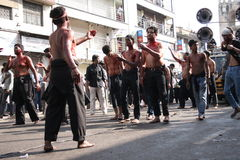 Muharram procession in Hyderabad,Ap,India. Stock Images