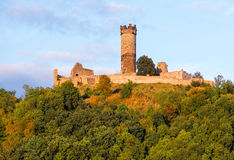 Muhlburg fortress ruins in Thuringia, Germany Royalty Free Stock Photo