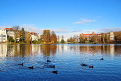 Muhlenteich, Lubeck, Germany Stock Photos
