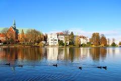 Muhlenteich Lubeck, Tyskland Royaltyfria Foton