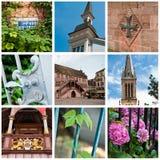 Muhouse-Collage Stockfotos