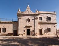 Muhraqa kloster på Mount Carmel l i stället av profeten Royaltyfria Foton