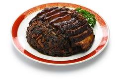 Mui cozinhado choy com barriga de carne de porco foto de stock