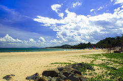 Mui Ne Coast Line and Stones. Stock Photo