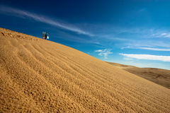 Mui Ne Dunes. White sand dunes in Mui Ne royalty free stock photography