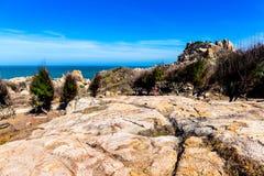 MUI Ne-ERHOLUNGSORT, PHAN THIET, VIETNAM - 20. Februar 2015 - Ansicht von Insel KE GA stockfoto