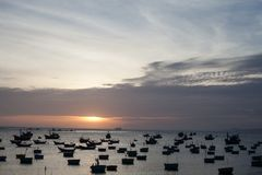Mui Ne Fishing Village Stock Photos