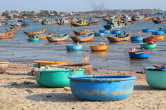 Mui ne fishing village Stock Photo