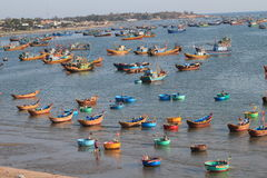 Mui ne fishing village Royalty Free Stock Images