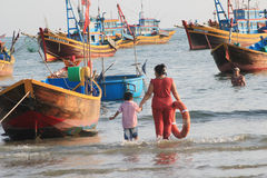 Mui ne fishing village Stock Image