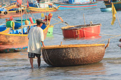 Mui ne fishing village Royalty Free Stock Photography
