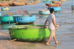 Mui ne fishing village Royalty Free Stock Photos