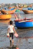 Mui ne fishing village Royalty Free Stock Image