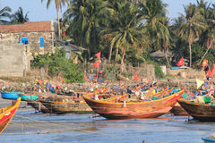 Mui ne fishing village Stock Photography