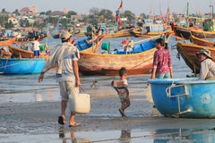 Mui ne fishing village in Vietnam Stock Photos