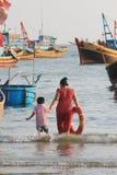 Mui ne fishing village in Vietnam Stock Image
