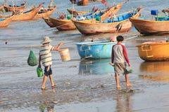 Mui ne fishing village in Vietnam Royalty Free Stock Photos
