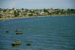 Mui Ne Harbor, Vietnam. View of the village of fishermen Stock Photography