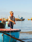 Vietnamese fisher Royalty Free Stock Images