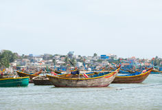 Fishing boats, Vietnam Stock Images